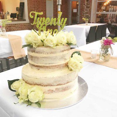 21st Cake 1